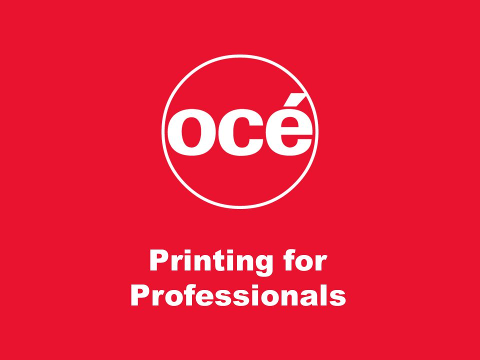 18 Printing for Professionals