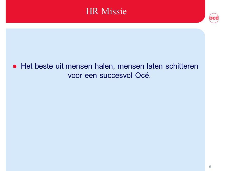 5 HR Missie l Het beste uit mensen halen, mensen laten schitteren voor een succesvol Océ.