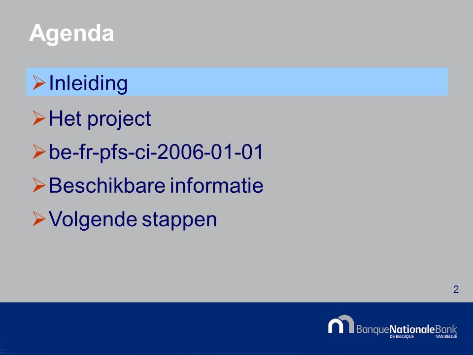 © National Bank of Belgium 13 De architectuur - Modulaire taxonomie  Full en Abbreviated Taxonomy vertrekpunt in functie van het schema van de jaarrekening  GCD Taxonomy bevat de identificatiegegevens van de onderneming en van het document  Core Taxonomy bevat het geheel van boekhoudkundige elementen  Data Type Taxonomy bevat de datatypes  Value List Taxonomy - Waardelijsten