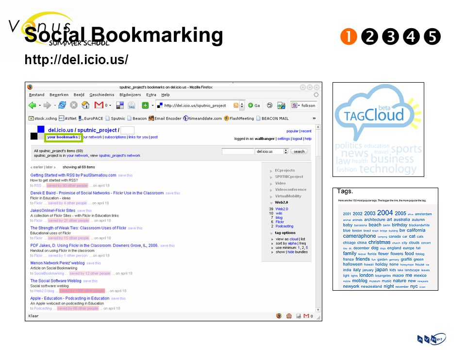 Social Bookmarking  http://del.icio.us/