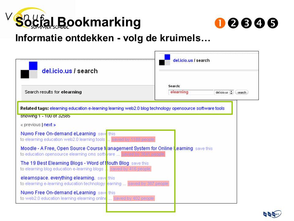 Informatie ontdekken - volg de kruimels… elearning Social Bookmarking 