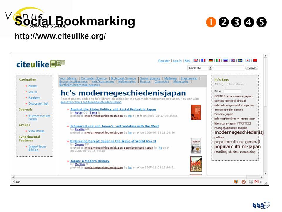 Social Bookmarking  http://www.citeulike.org/