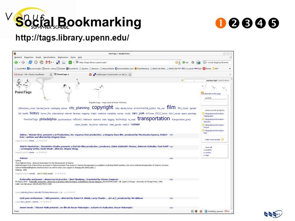 Social Bookmarking  http://tags.library.upenn.edu/
