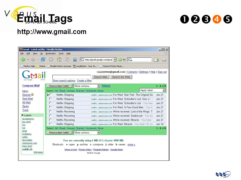 Email Tags  http://www.gmail.com