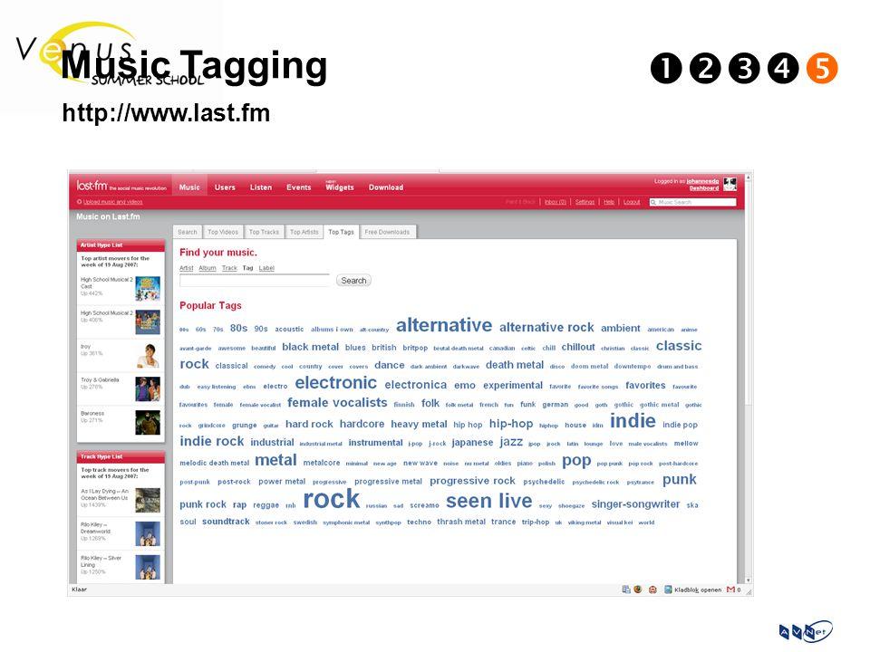 Music Tagging  http://www.last.fm
