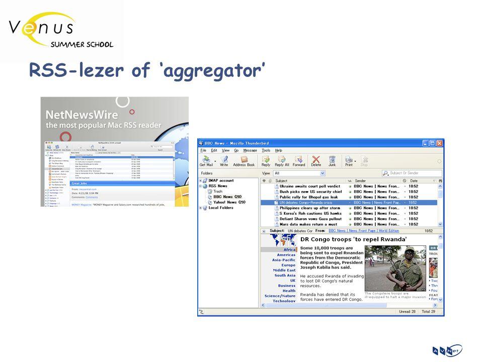RSS-lezer of 'aggregator'