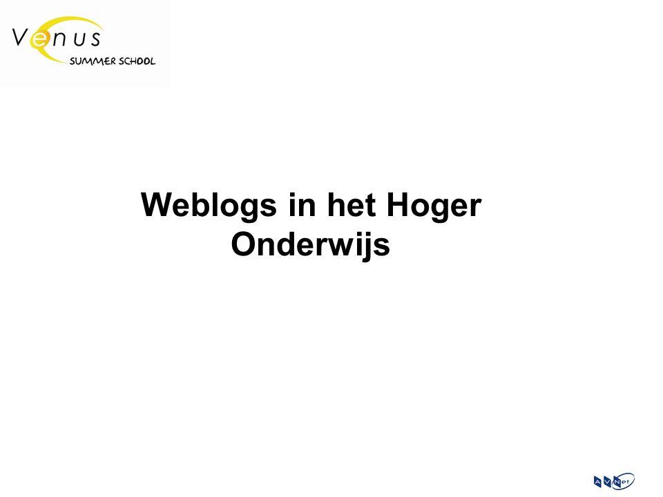 Weblogs in het Hoger Onderwijs