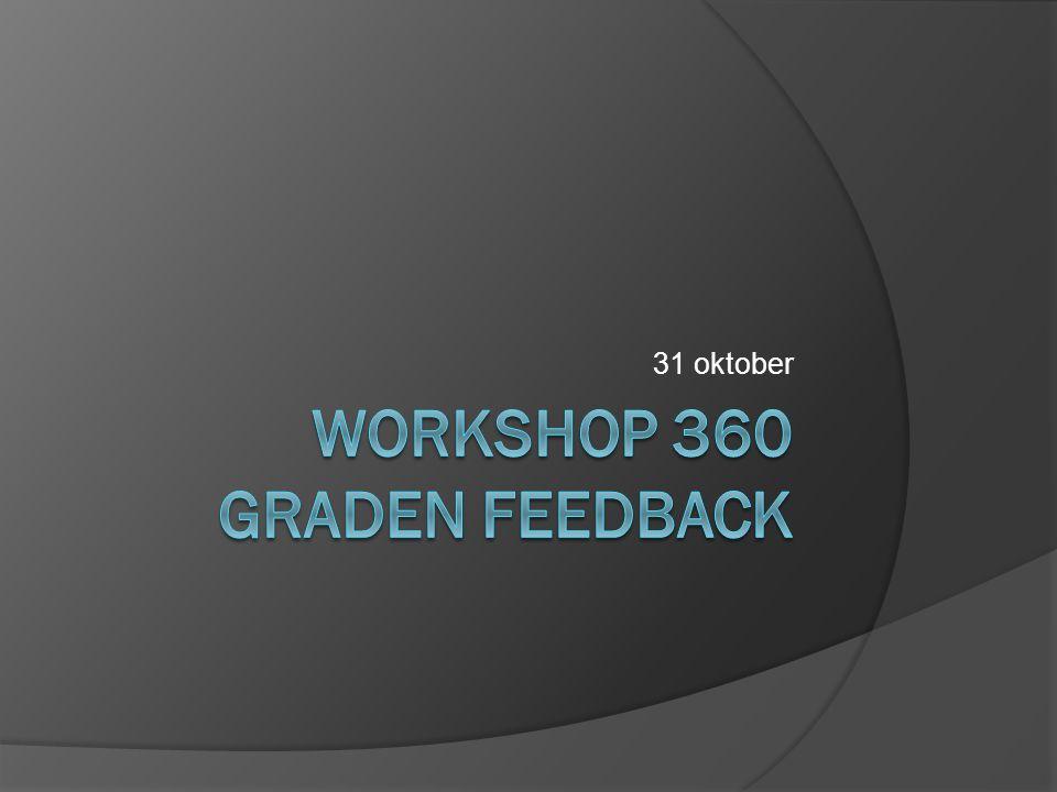 Programma  360˚ feedback en competentieontwikkeling  toepassing 360˚ feedback in stage.