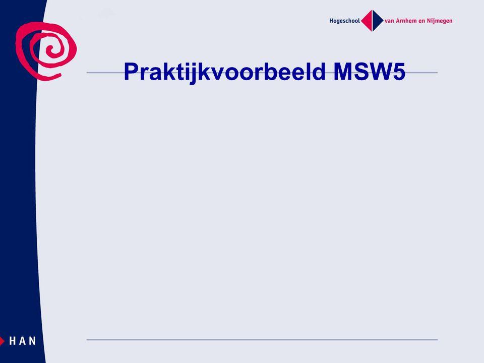 Praktijkvoorbeeld MSW5
