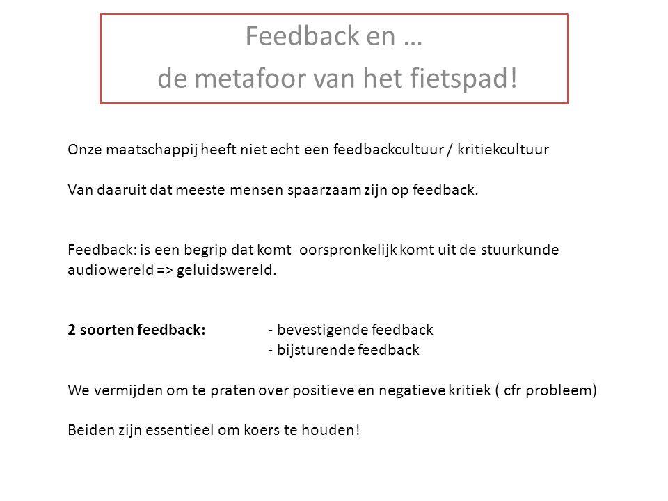 Onze maatschappij heeft niet echt een feedbackcultuur / kritiekcultuur Van daaruit dat meeste mensen spaarzaam zijn op feedback. Feedback: is een begr