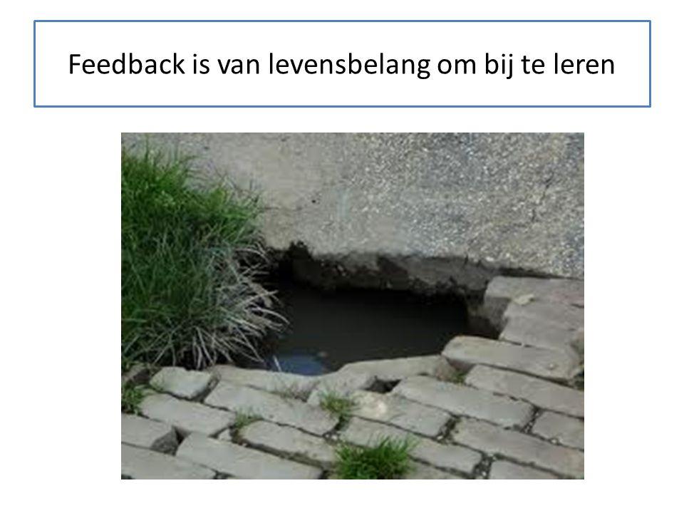 Negatieve feedback bestaat niet!