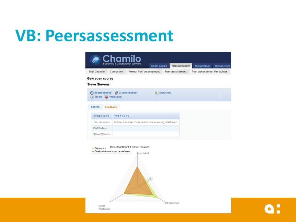 VB: Peersassessment