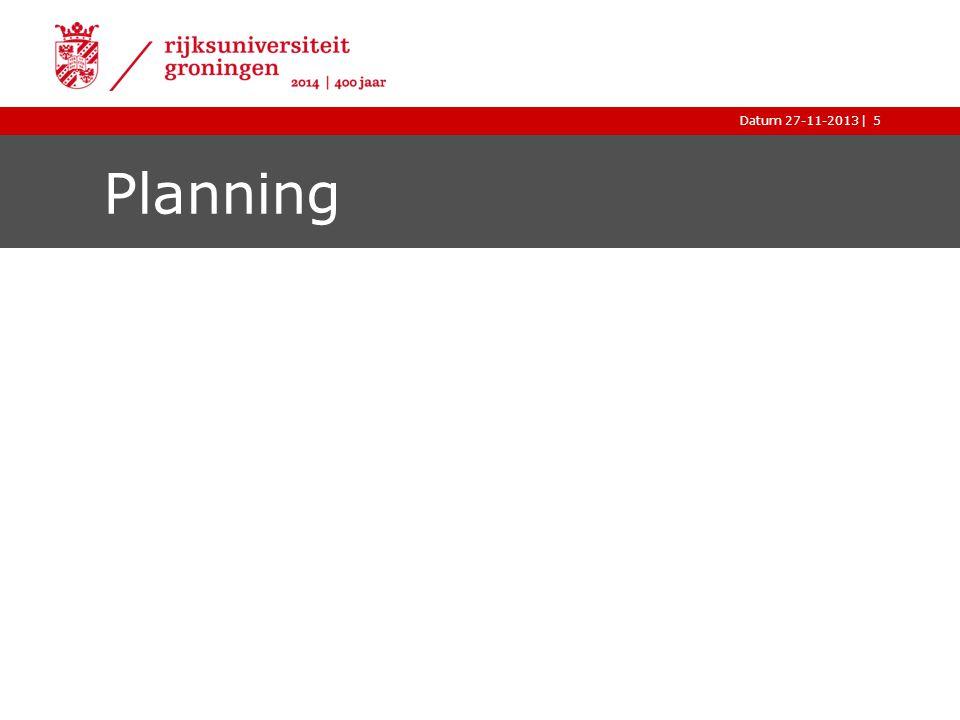 |Datum 27-11-20135 Planning
