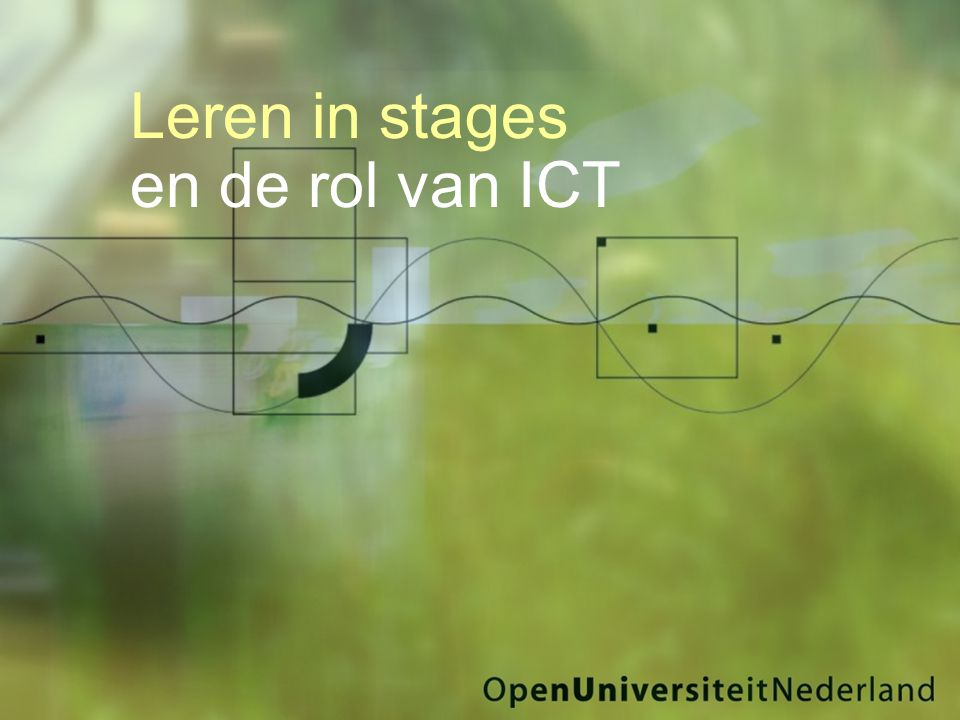 Leren in stages en de rol van ICT