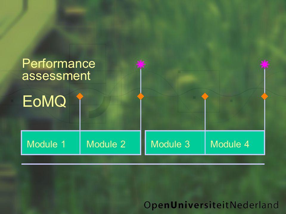 Module 1Module 2Module 3Module 4 EoMQ Performance assessment