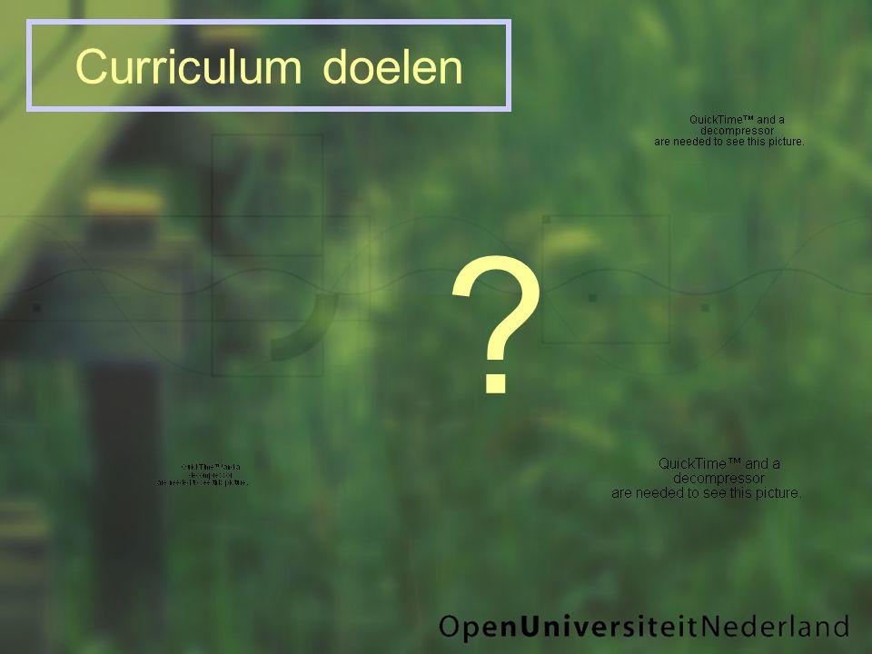 Curriculum doelen ?