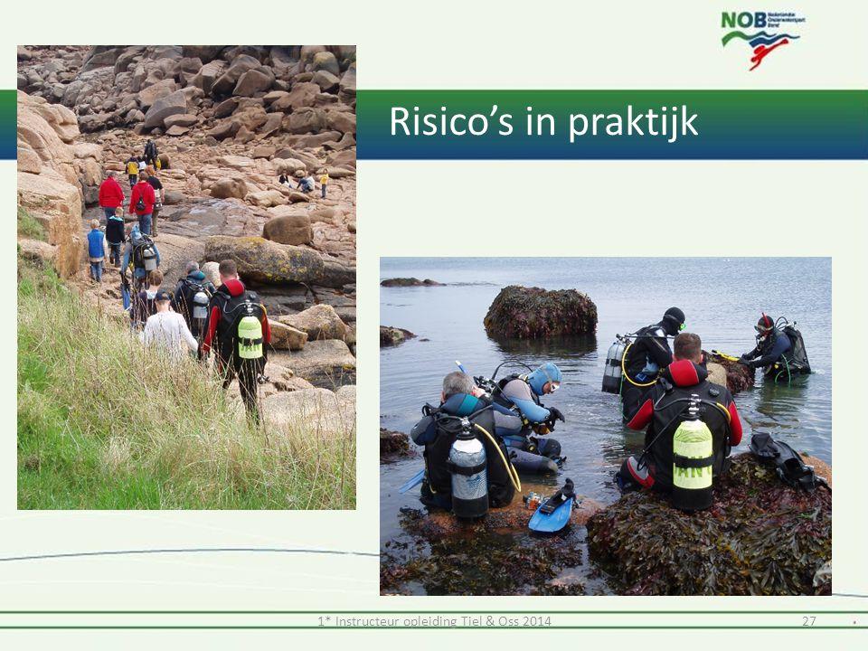 1* Instructeur opleiding Tiel & Oss 201427 Risico's in praktijk