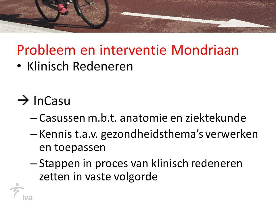 Probleem en interventie Mondriaan Klinisch Redeneren  InCasu – Casussen m.b.t.