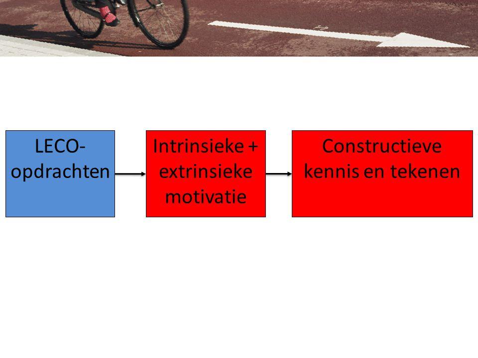 LECO- opdrachten Intrinsieke + extrinsieke motivatie Constructieve kennis en tekenen