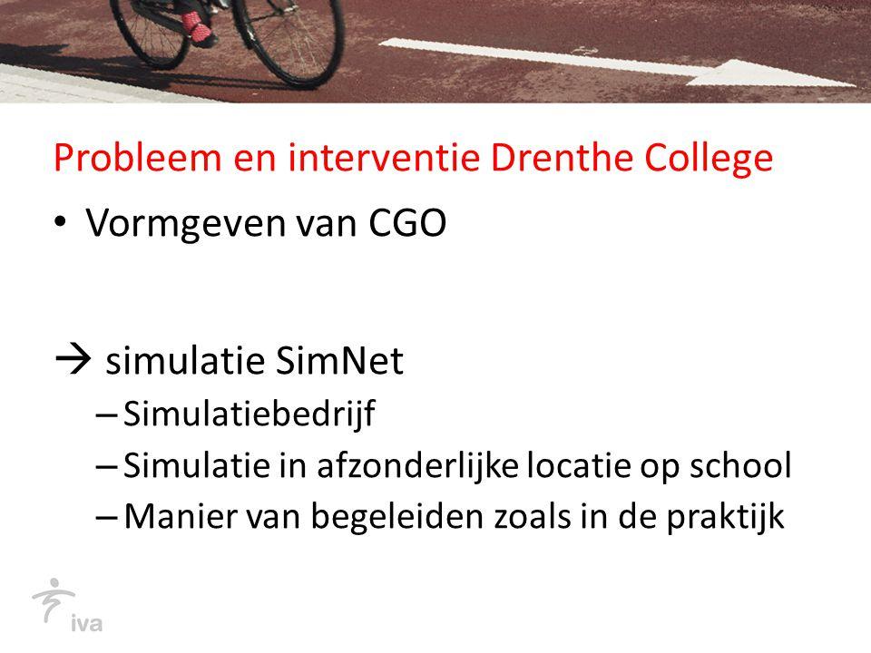 Probleem en interventie Graafschap College constructieve kennis en tekenvaardigheden  Interventie:LECO (leren construeren) voor bereiding product evalueren reflecteren oriënteren