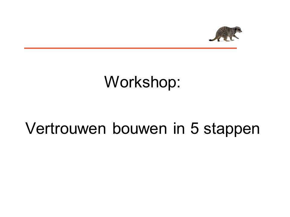 Workshop: Vertrouwen bouwen in 5 stappen