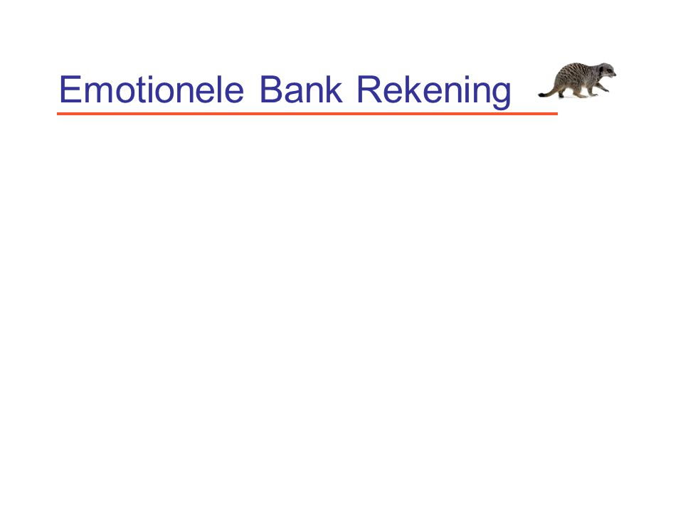 Emotionele Bank Rekening