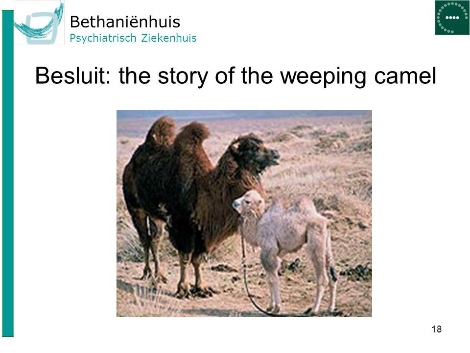 Bethaniënhuis Psychiatrisch Ziekenhuis Besluit: the story of the weeping camel 18