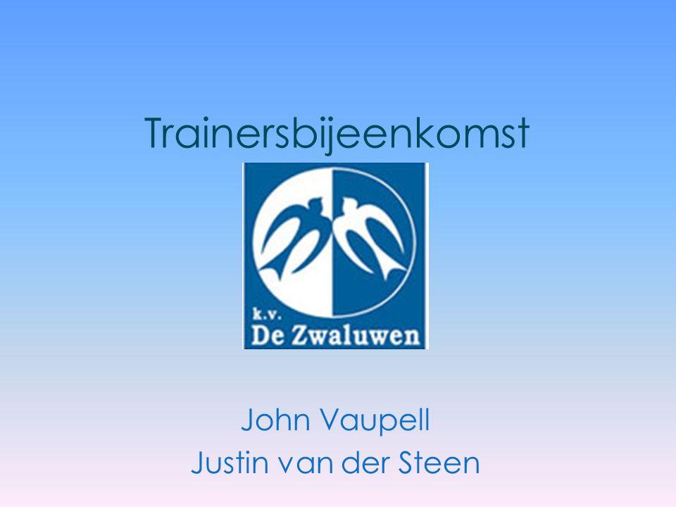 Trainersbijeenkomst John Vaupell Justin van der Steen