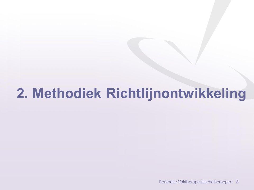 Resultaten psychomotorische therapie Federatie Vaktherapeutische beroepen 38