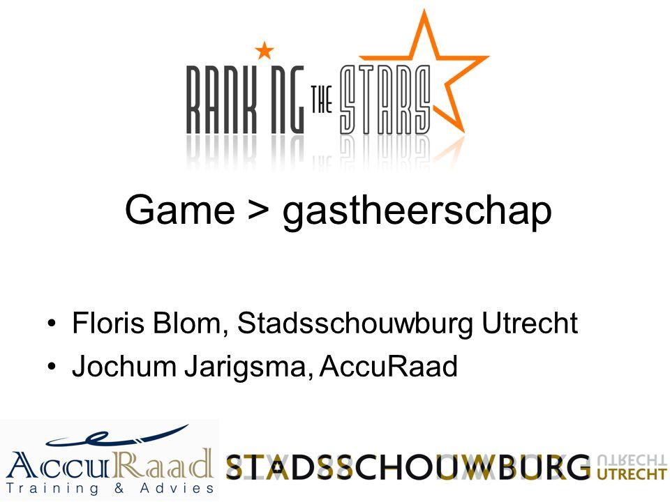 Game > gastheerschap Floris Blom, Stadsschouwburg Utrecht Jochum Jarigsma, AccuRaad