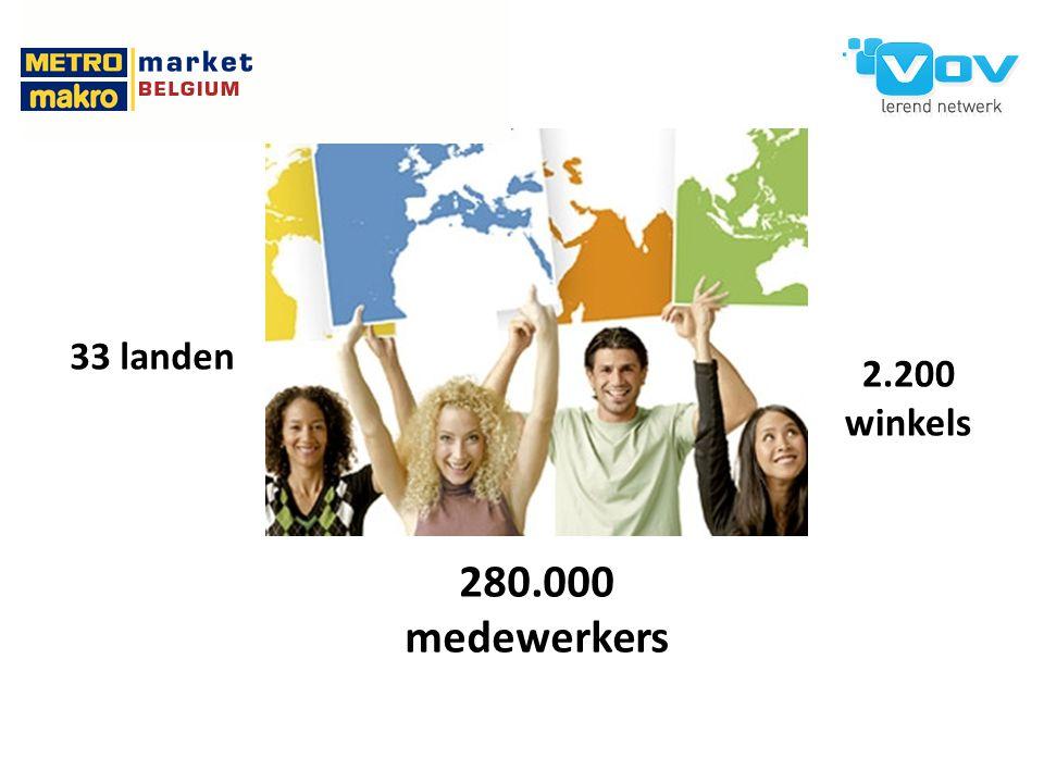 33 landen 280.000 medewerkers 2.200 winkels