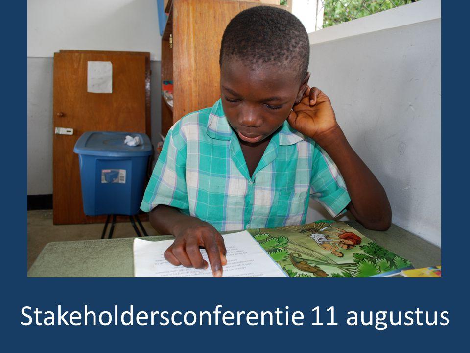 Stakeholdersconferentie 11 augustus