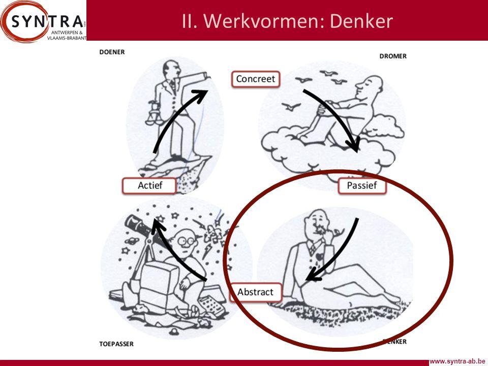 www.syntra-ab.be II. Werkvormen: Denker