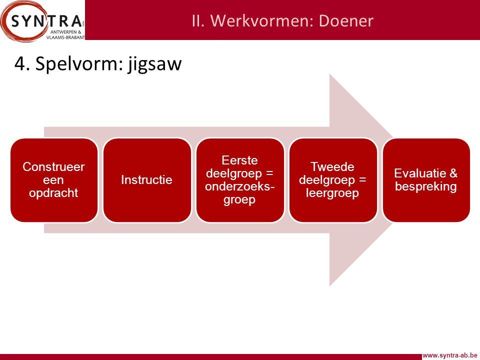 www.syntra-ab.be II.Werkvormen: Doener 4.