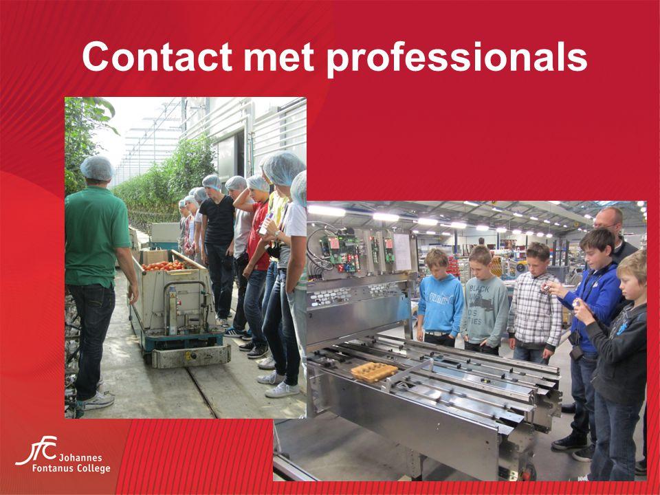 Contact met professionals