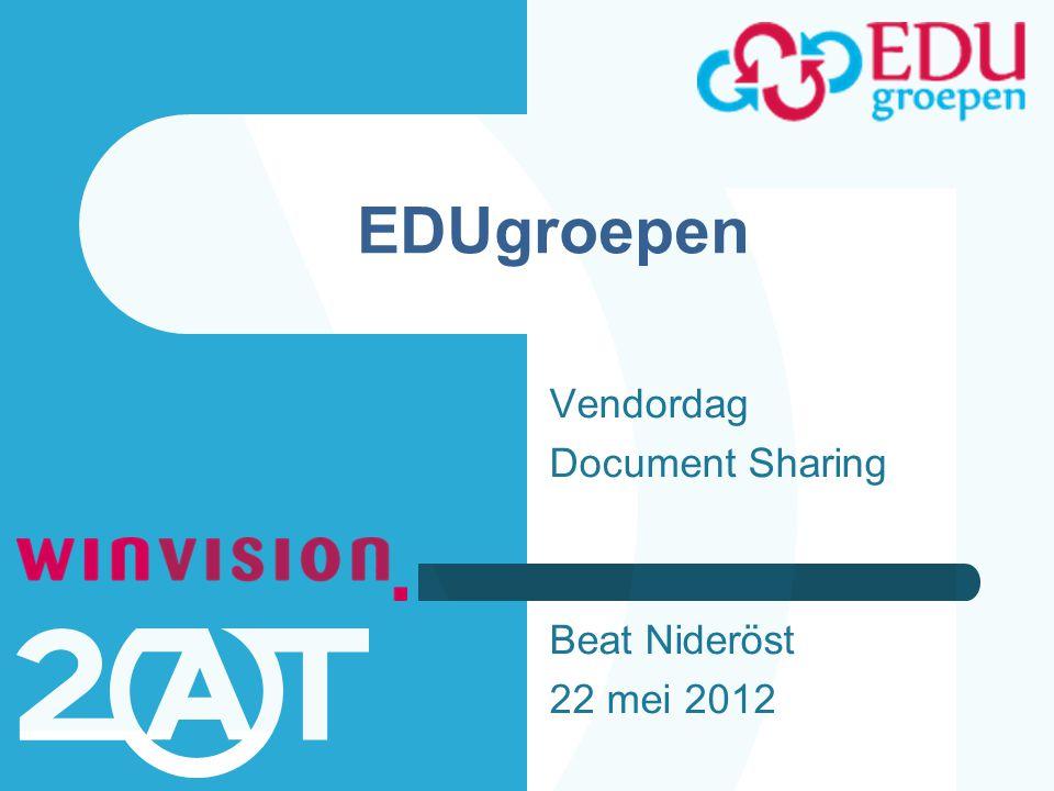 EDUgroepen Vendordag Document Sharing Beat Nideröst 22 mei 2012