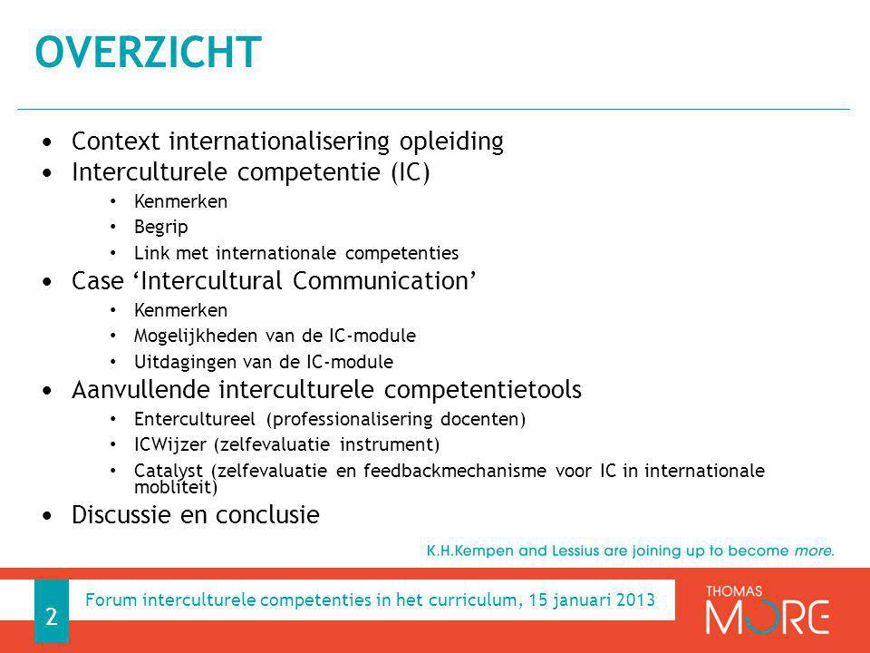CONTEXT INTERNATIONALISERING OPLEIDINGEN 3