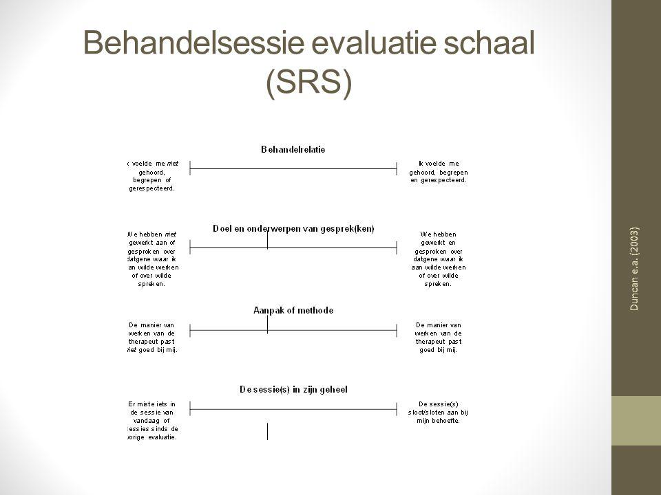Behandelsessie evaluatie schaal (SRS) Duncan e.a. (2003)