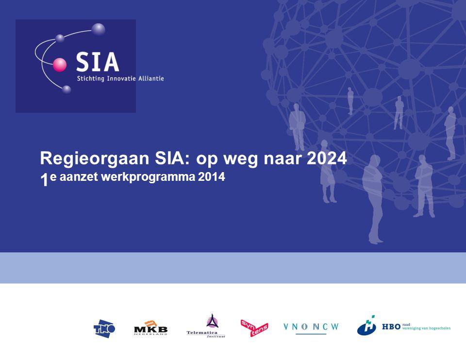 Regieorgaan SIA: op weg naar 2024 1 e aanzet werkprogramma 2014