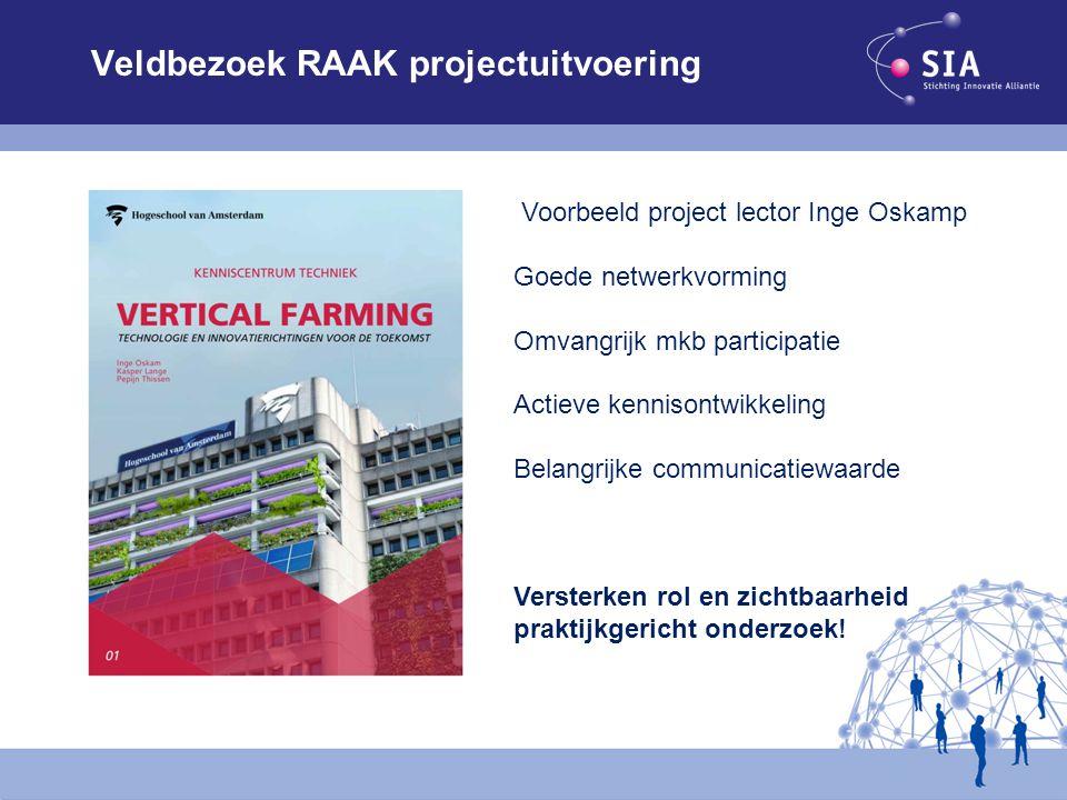Veldbezoek RAAK projectuitvoering Voorbeeld project lector Inge Oskamp Goede netwerkvorming Omvangrijk mkb participatie Actieve kennisontwikkeling Bel