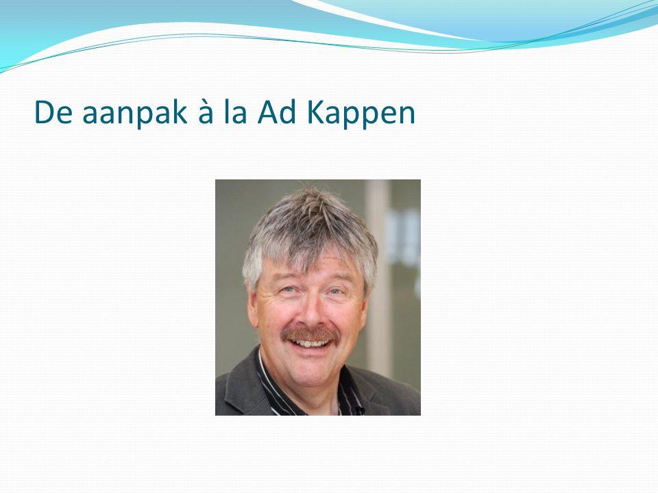 De aanpak à la Ad Kappen