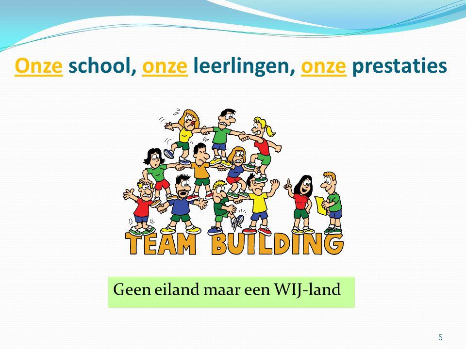 Onze school, onze leerlingen, onze prestaties Geen eiland maar een WIJ-land 5
