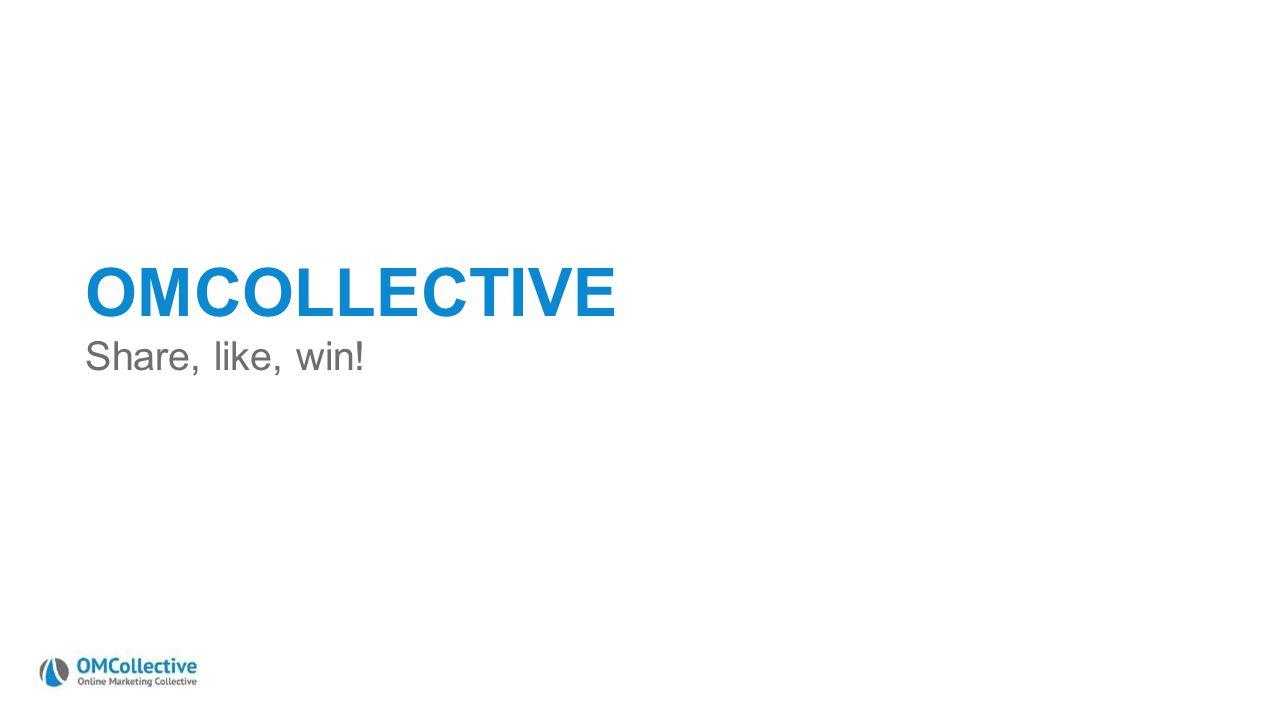 Online marketing vandaag UNIZO – 24 oktober 2013 OMCOLLECTIVE Share, like, win!