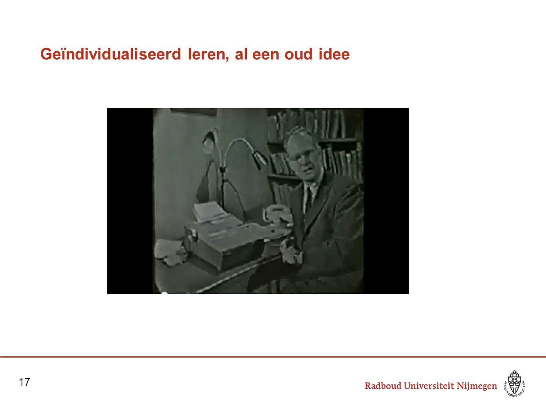 Geïndividualiseerd leren, al een oud idee 17