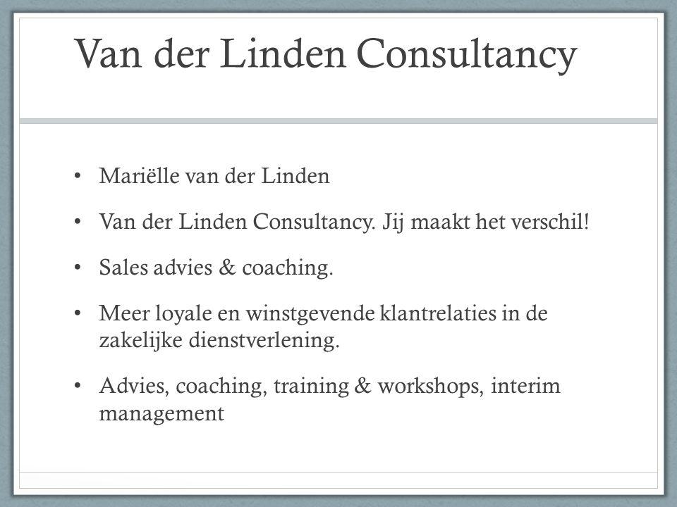 Van der Linden Consultancy Mariëlle van der Linden Van der Linden Consultancy.