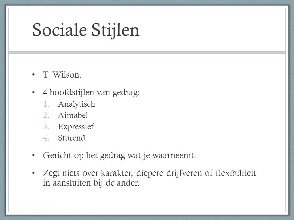 Sociale Stijlen T.Wilson.