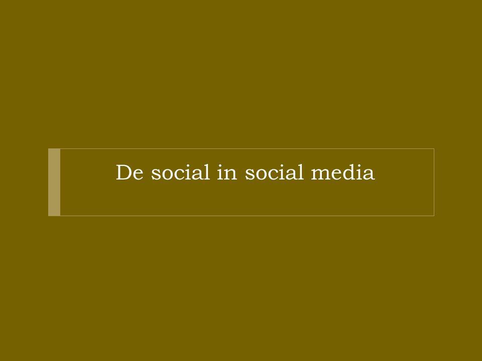 De social in social media