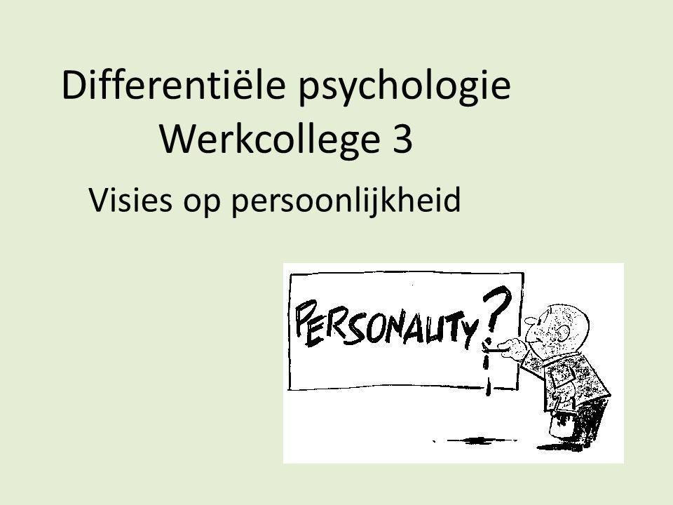 Bedenk een inhoudelijk voorbeeld dat evidentie geeft voor de trekkenpsychologie