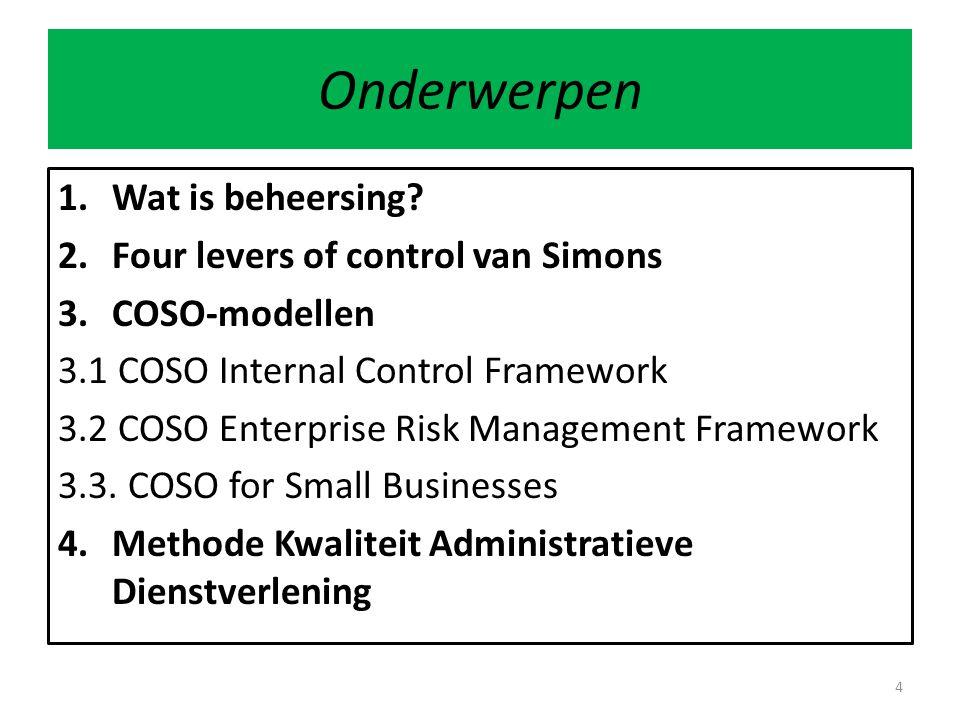 Control environment 25