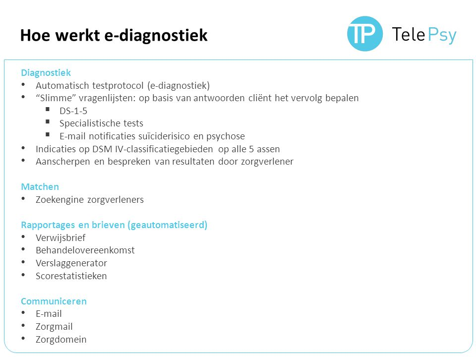 Demonstratie www.telepsy.nl